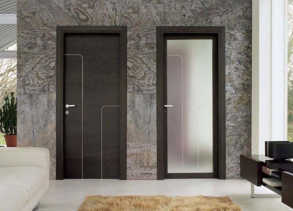 Porte interne con inserti prezzi alluminio cromo satinato effedue porte - Prezzi porte interne ...