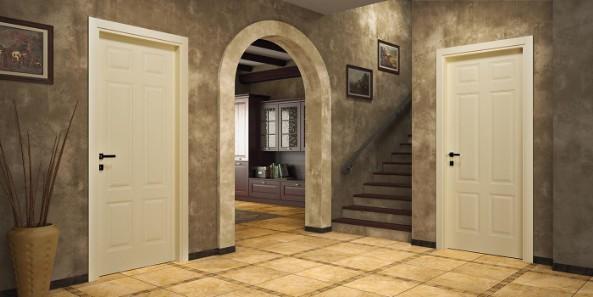 Porte interne pantografate prezzi, laccate, con vetro - Effedue porte
