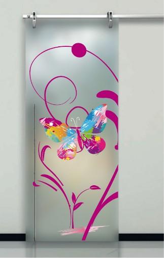 Porte interne in vetro decorato prezzi, design moderno - Effedue porte