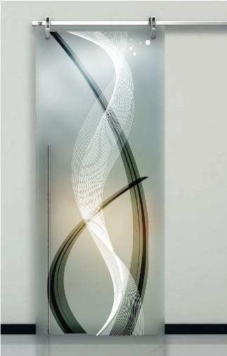 Porte Interne In Vetro Decorato Prezzi Design Moderno Effedue Porte