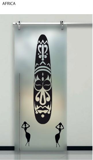 Porte interne in vetro decorato prezzi design moderno effedue porte - Porte moderne con vetro decorato ...