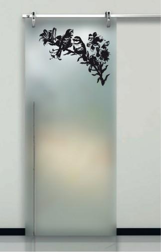 Porte interne in vetro decorato prezzi design moderno effedue porte - Porte con vetro decorato ...