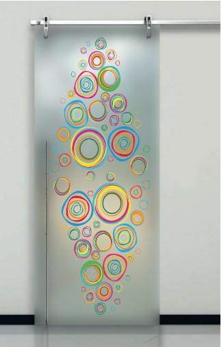 Porte interne in vetro decorato prezzi design moderno effedue porte - Porte scorrevoli con vetro decorato ...